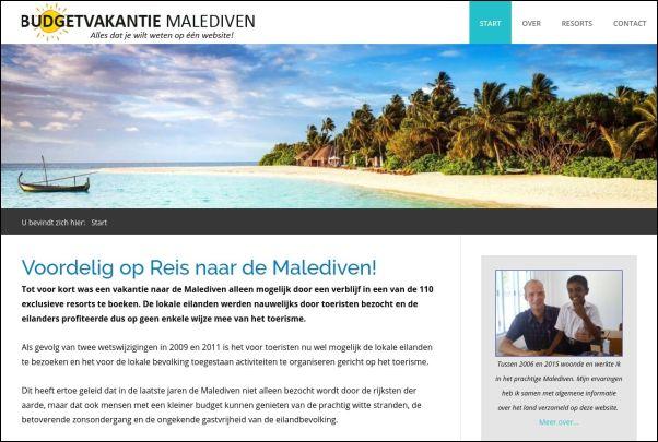 Budgetvakantiemalediven.nl