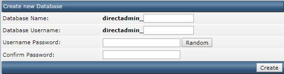 database aanmaken