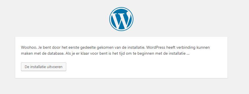 De eerste WordPress stap is gezet